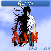 Ajin ICO, PNG and Folder by bryan1213