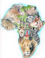Animalia Africana by KCJoughDoitch