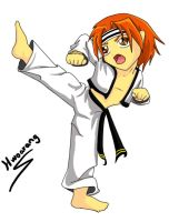 Little Tae Kwon Do Warrior by Legadema