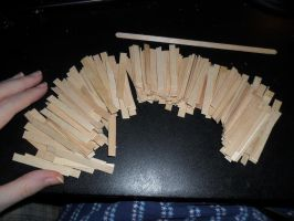Coffee Stirrers Now Floor Pieces by kayanah