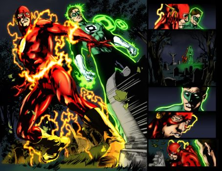 Blackest Night double page color by TheRedHairedLemur