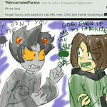 When Karkat and Chris meets-- by LinksInMe