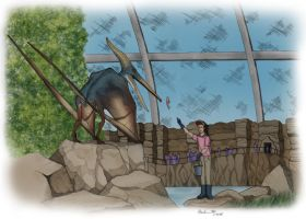 Jurassic Park - Feeding Pteranodon (Color) by March90