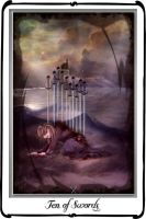 Tarot- ten of Swords by azurylipfe