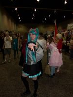 Hatsune Miku poses for the camera by The-True-ZX