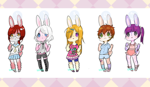 CLOSED Adoptable Bunnies 3 by adodoptables