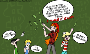 Brick Makes It Rain by PrincessCallyie