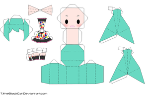 Tell your World Miku Papercraft by Tamuu-ii