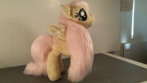 Fluttershy faux fur plush by kain by Fanglore-and-Kain