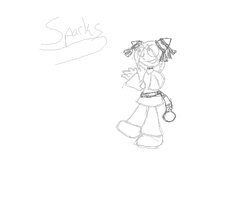 Sparks the Ampharos Gijinka WIP by Cocoafox895