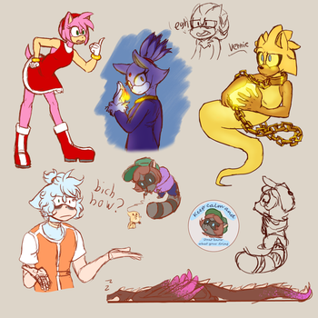 Sketches and a sticker idea by CHibilover0