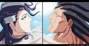 Bleach - Kuchiki Byakuya and Zaraki Kenpachi by StingCunha