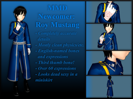 MMD Newcomer: Roy Mustang VERSION 2 by LearnMMD
