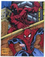 Daredevil and Spiderman MU 2014 AP commission by mdavidct