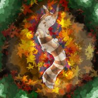 Furret in the forest by CaptSnoepdoos23