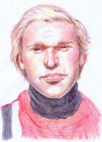 Portrait of a young man - Biro by bluefootednewt