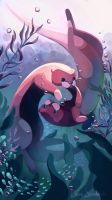 Otters by Sandwichwithham