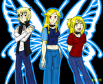 DP Brad, Ami and Casse by The-Clockwork-Crow