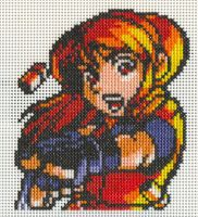 XStitch FanArt-Claire Redfield by missy-tannenbaum