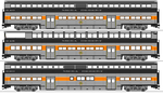MDRR Series 630 and 640 Bilevel Cars by omega-steam