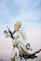 Fate/Extra - Saber Bride by vaxzone