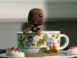 Sackboy's Tea Cup by 4TheOneWithoutAName