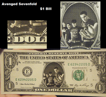 Avenged Sevenfold $1 Bill by ThatAvengedKid