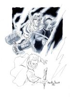 Thor commission sketch by qualano