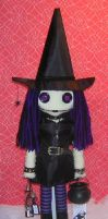 Witch Rag Doll wcauldron by Zosomoto
