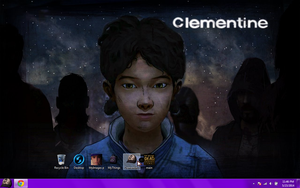 Walking dead styled desktop [clementine themed] by XHaloMMDArtX