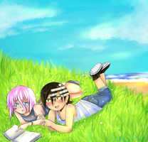 Summer Reading. by LumiPop