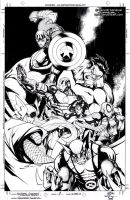 AVENGERS ASSEMBLE COVER-- by Sandoval-Art