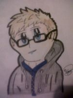 Russell howard anime style by BENART12