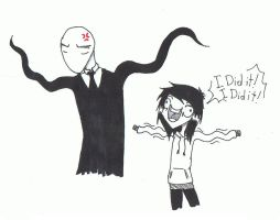 Slendy and Jeff by wicia456