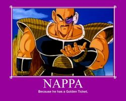 Nappa Demotivational Poster by LadyWinterEldritch
