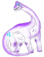 Rarabrachiosaurus by AliceInPirateland
