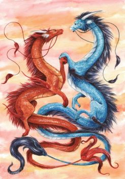 Dimi and Trixxxy Dragons by Pannya