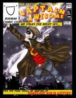 Captain Awesome Comic Cover by SNHigginsss
