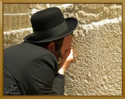 An Intense Moment AtThe Western Wall by Lior-Art