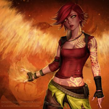 Lilith the Firehawk - Borderlands 2 by Sciamano240