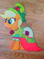 {Perler} Applejack in Her Season 5 Gala Dress by OddishCrafts