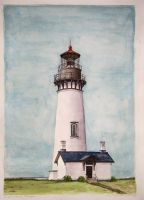 Watercolor lighthouse by salinasj