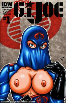 Naughty Cobra Commander bust cover by gb2k