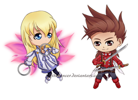 Chibi Lloyd and Collet by ScytheDancer