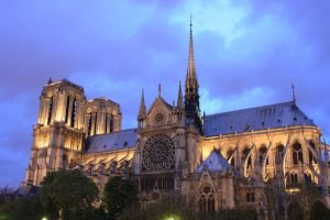 Notre Dame cathedral by night by 914four