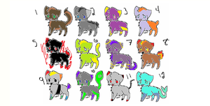 12 Kitty Adopts [OPEN] by AvalaAdopts