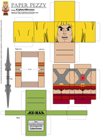 Paper Pezzy- He-Man 'Classic' by CyberDrone