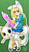 Fionna and Cake by MaCaRiUs1998