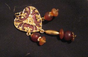 WIP brown and gold necklace by Galasdian