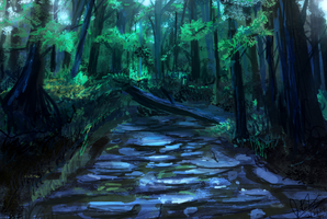 Forest-speed by JonnyCupCake